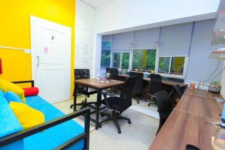 The coworking space where I worked most of my time in Bangalore, B-hive.