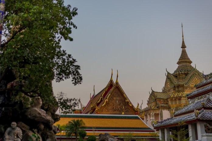 thailand, bangkok, buddha, wat pho, sunset