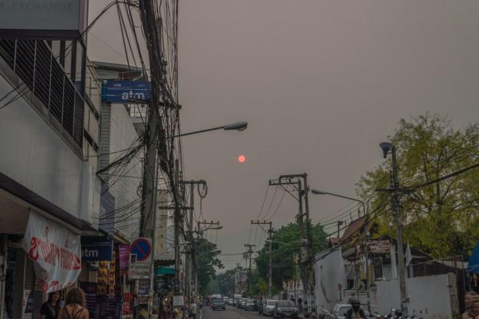 thailand, chiang mai, sun, smog
