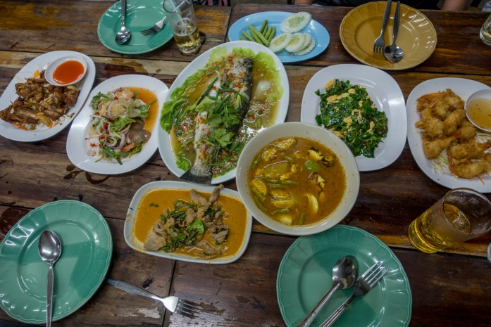 thailand, koh samui, dinner, restaurant, seafood
