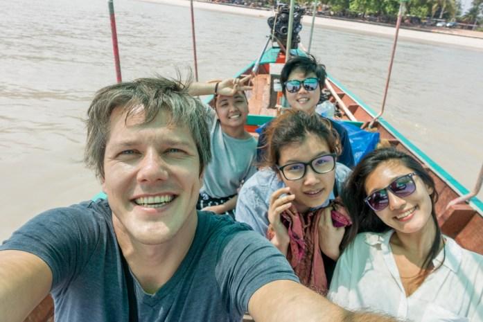 thailand, don sak, surat thani, boat ride