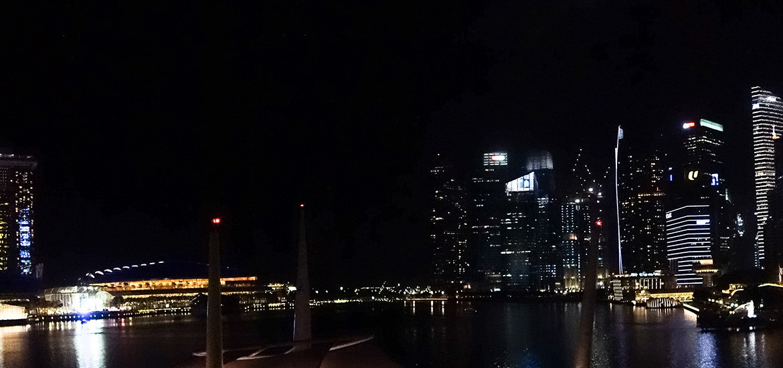 singapore, night view, cityscape