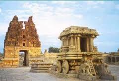 Hampi Monuments - Monuments of Hampi, Karnataka, India