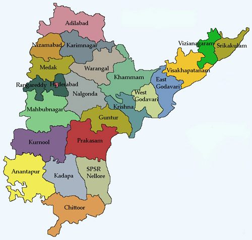 Places to visit in andhra pradesh - Andhra pradesh Map