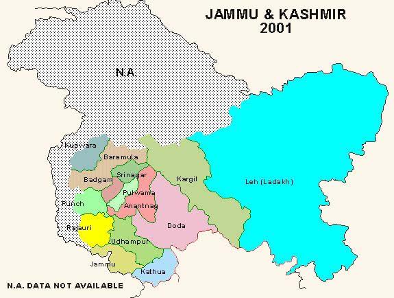 Tourist Places to visit in Jammu and Kashmir - Jammu and Kashmir Map
