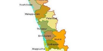 Tourist places to visit in Kerala - Kerala Map