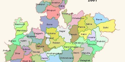 Tourist places to visit in Madhya Pradesh - Madhya Pradesh Map