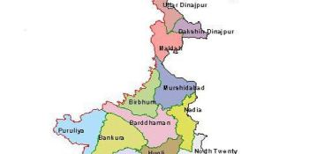 Places to visit in West Bengal Map