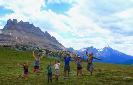 Family hike in Jasper National Park, RV Living with Kids