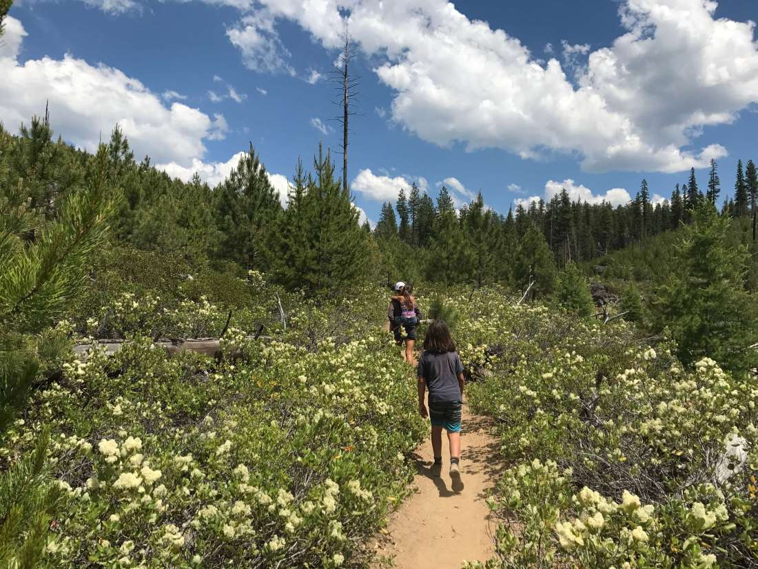 Hiking to the waterslides, Peter Skene Ogden Trail OR