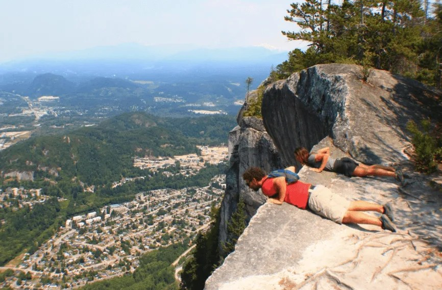 Hiking The Chief in Squamish, Canada on sea to sky highway road trip