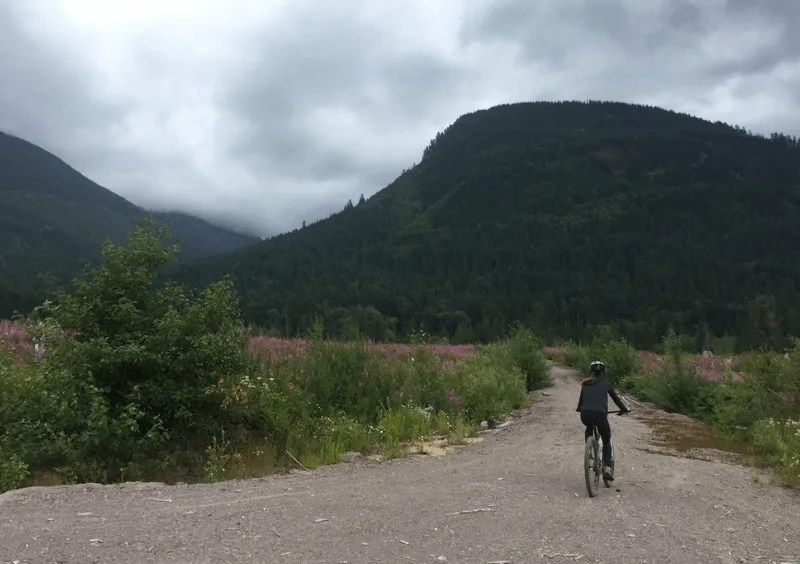 Mountain biking near Alice Lake, Sea to Sky road trip