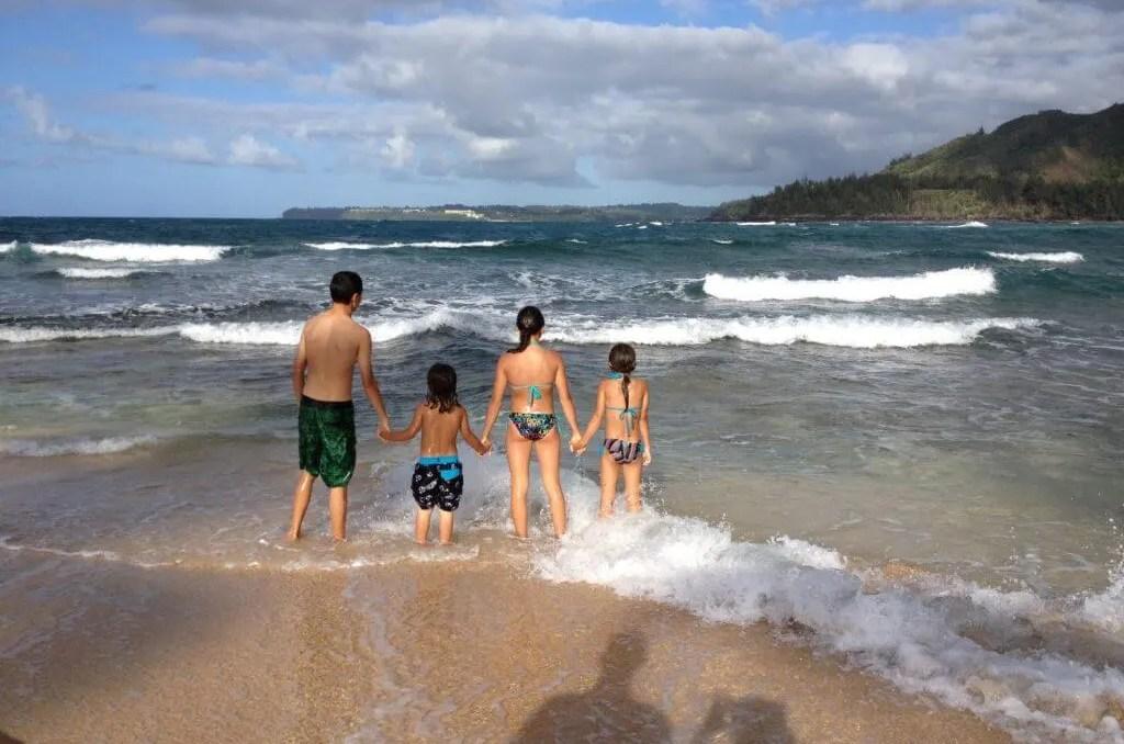 living adventurous life, Haena beach, Kauai