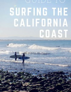 Guide to Surfing the California Coast Pinterest Image