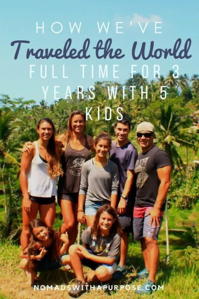 how we traveled the world full time for 3 years with 5 kids
