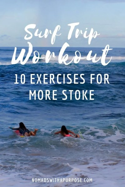 surf trip workout: 10 exercise for more stoke in the water