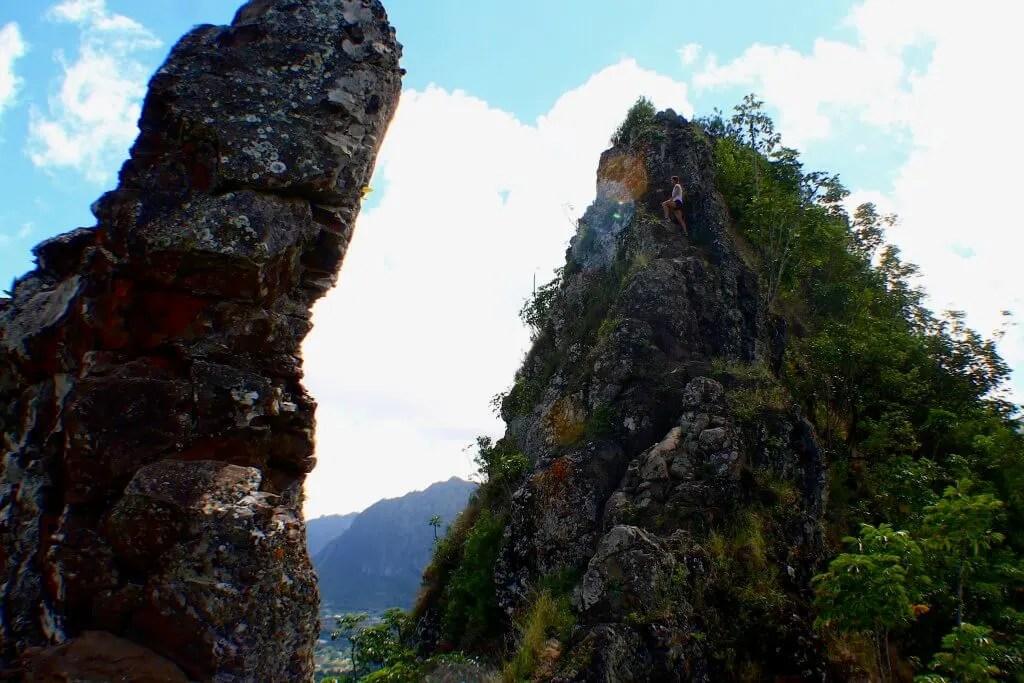 Olomana ridge outdoor adventure Oahu