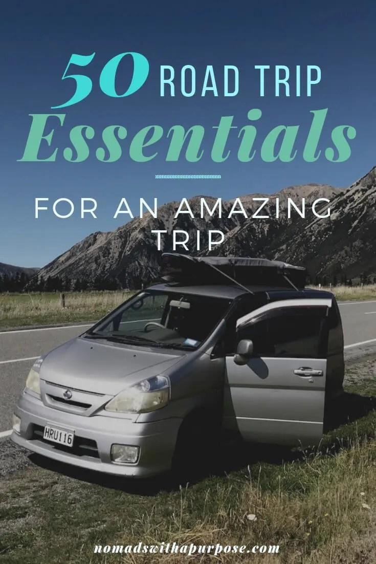 road trip essential pack list