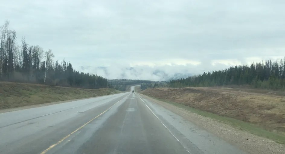 Road conditions Alaska Highway