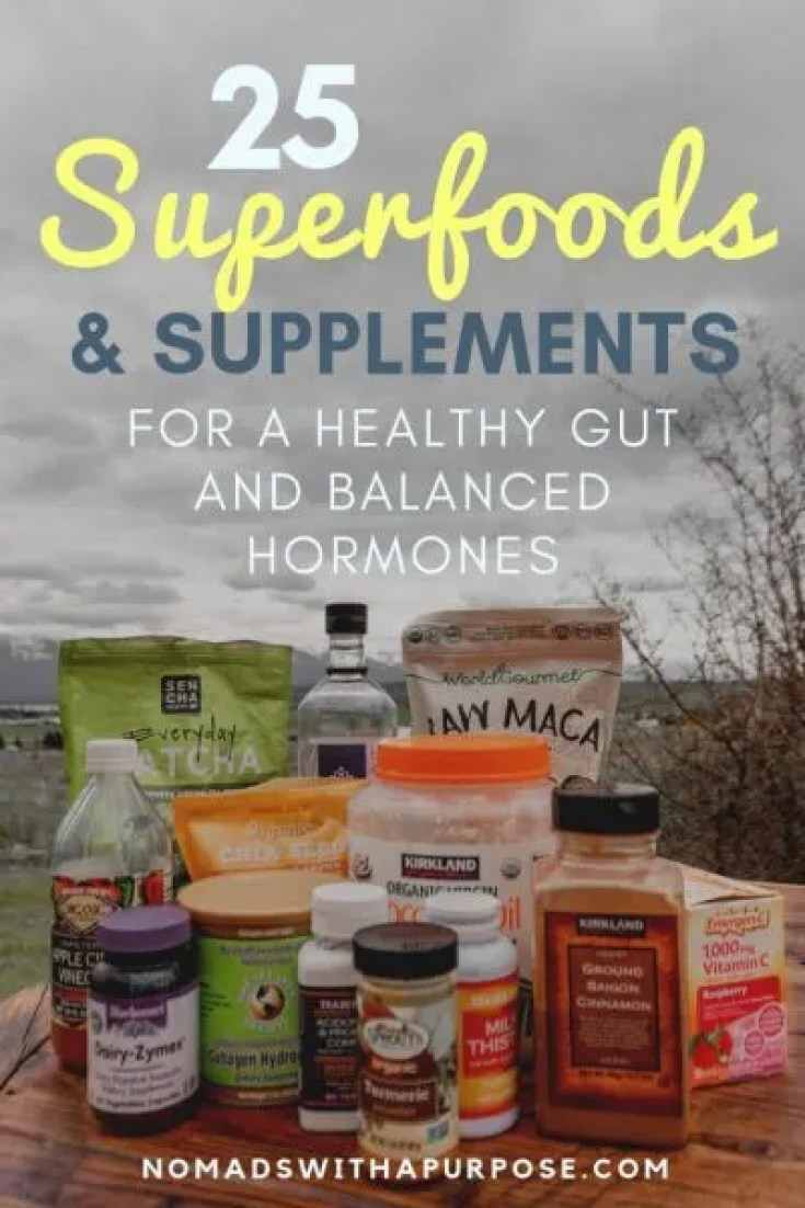 Superfoods and supplements for healthy gut, balanced hormones