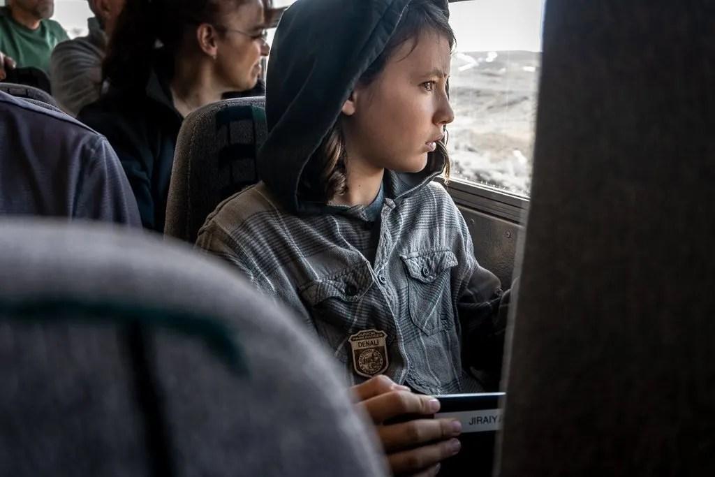 Buss ride Denali National Park, Hiking and Camping, Alaska