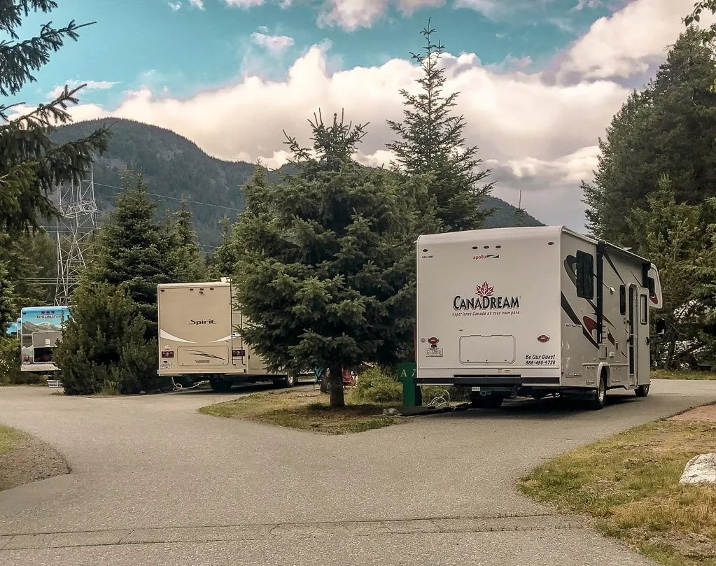 Camping in Whistler at Riverside RV Park