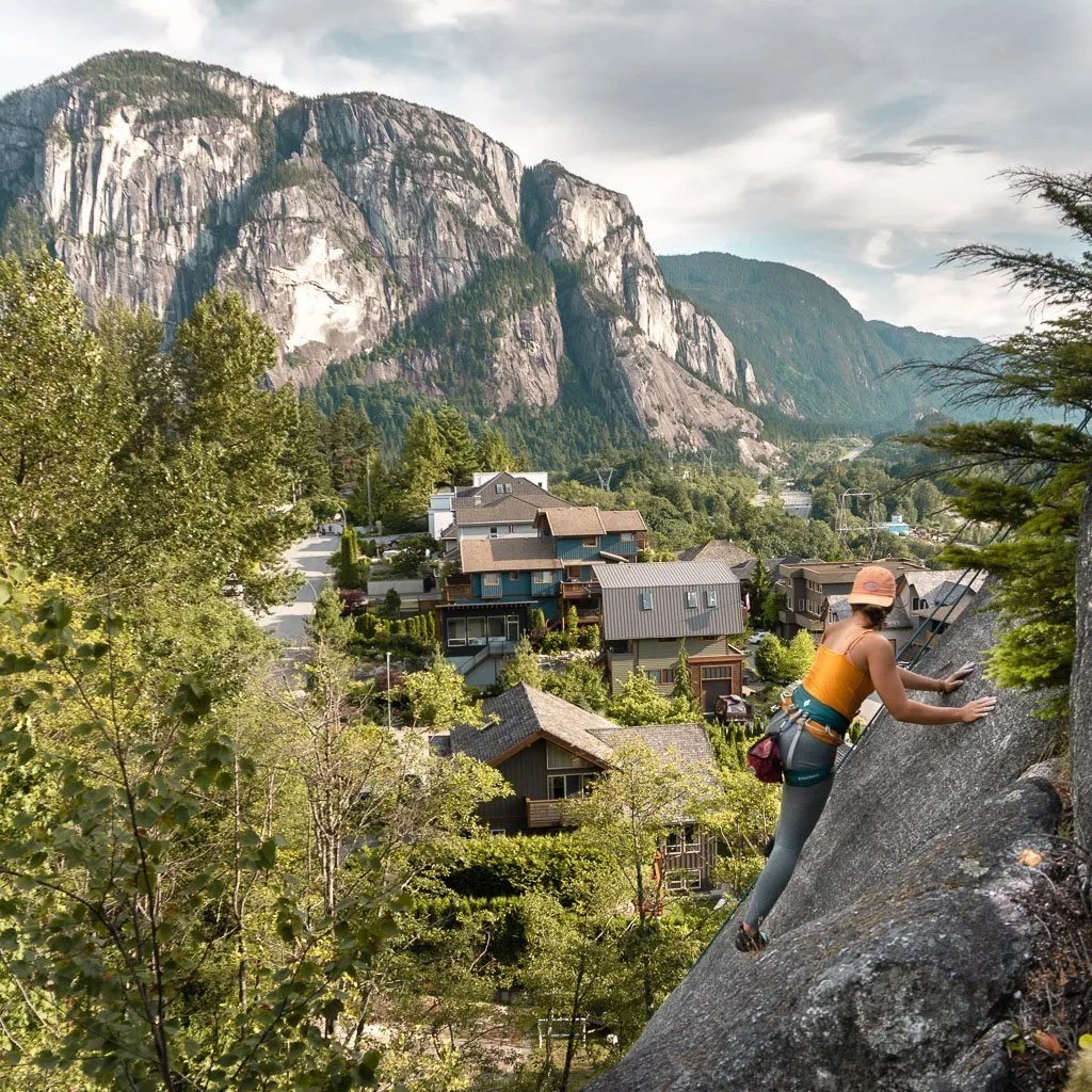 climbing the smoke bluffs in Squamish