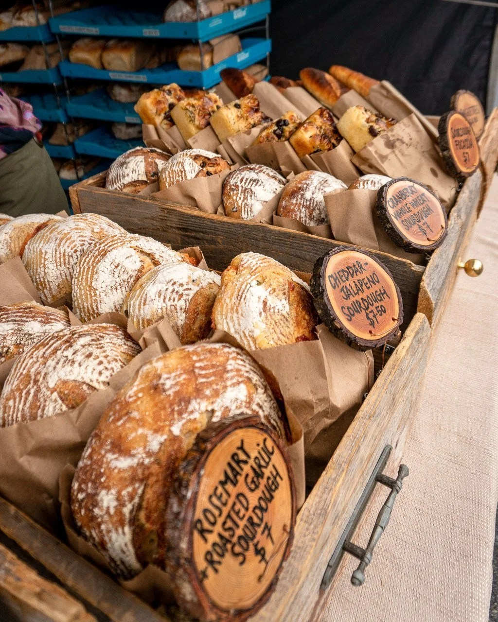 Rising Knead at Squamish Farmers Market, Sea to Sky Highway