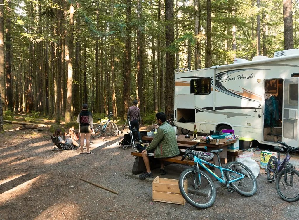 Alice Lake, The campground at Alice Lake in Squamish