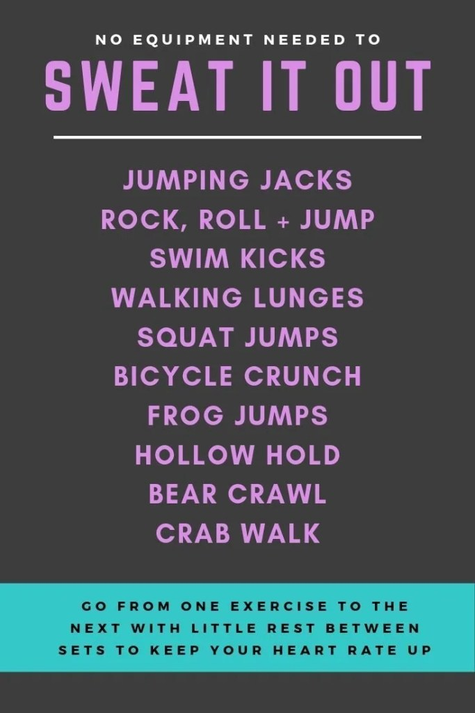 Sweat it out Travel Workout