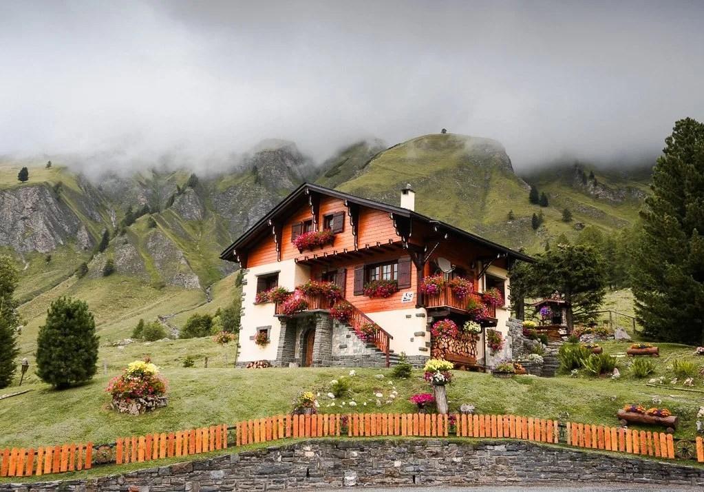 Ferret village, Tour du Mont Blanc, Swiss Alps