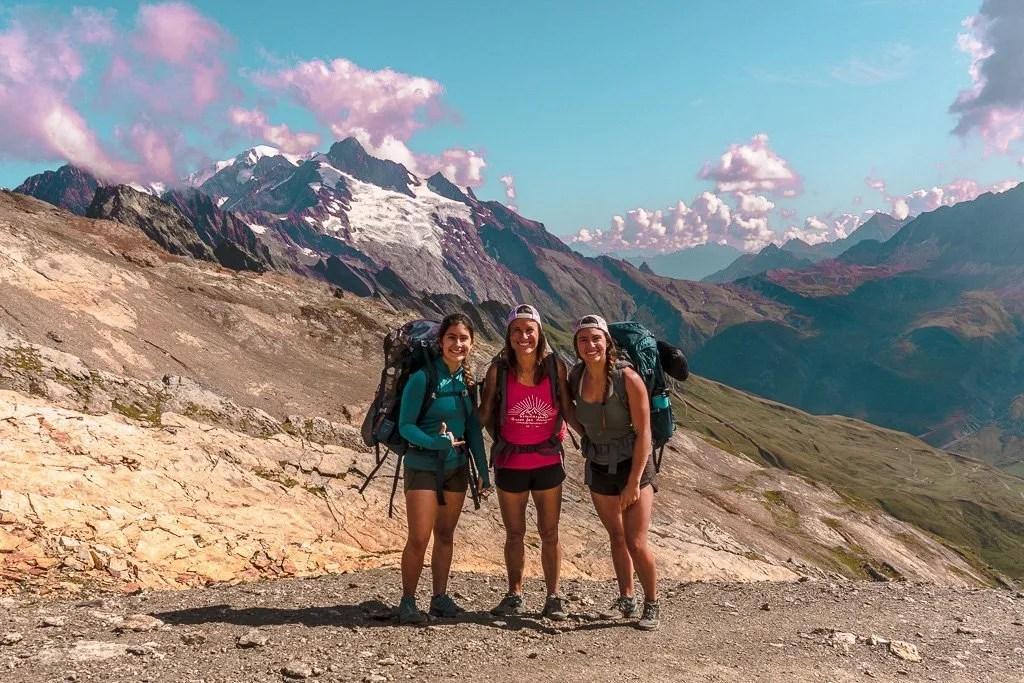 Tour du mont Blanc Col de Fours summit