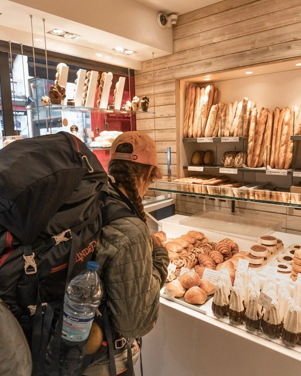 Boulangerie in Chamonix town on Tour du Mont Blanc Hike