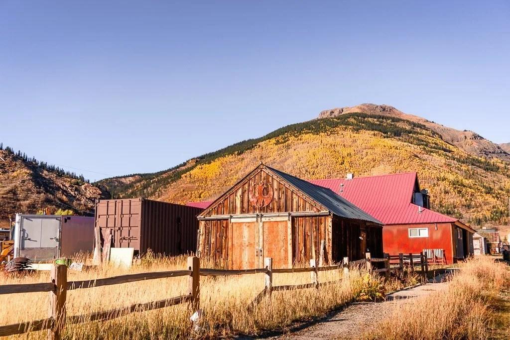 Old buildings in Silverton Colorado