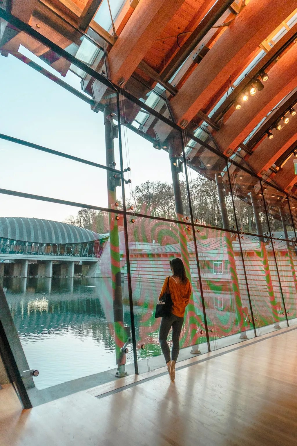 Architecture at Crystal Bridges Art Museum in Bentonville Arkansas