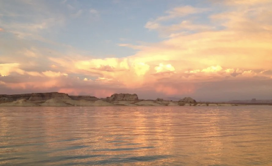 Lake Powell is a great place to camp on a west coast road trip