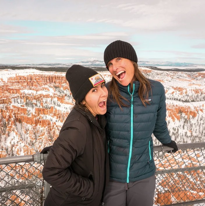 Robyn and Isabelle Bringing the Energy in Bryce Canyon