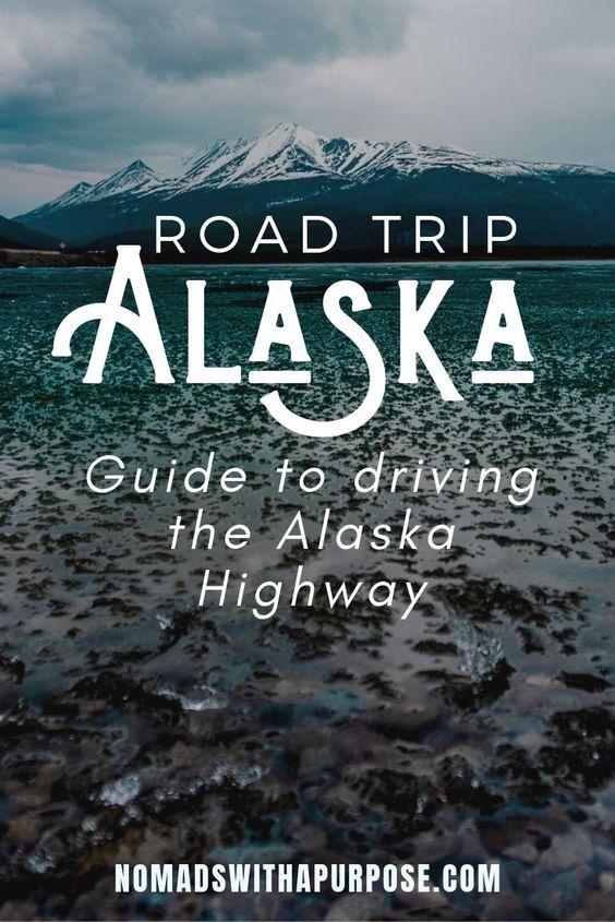 road trip Alaska pin