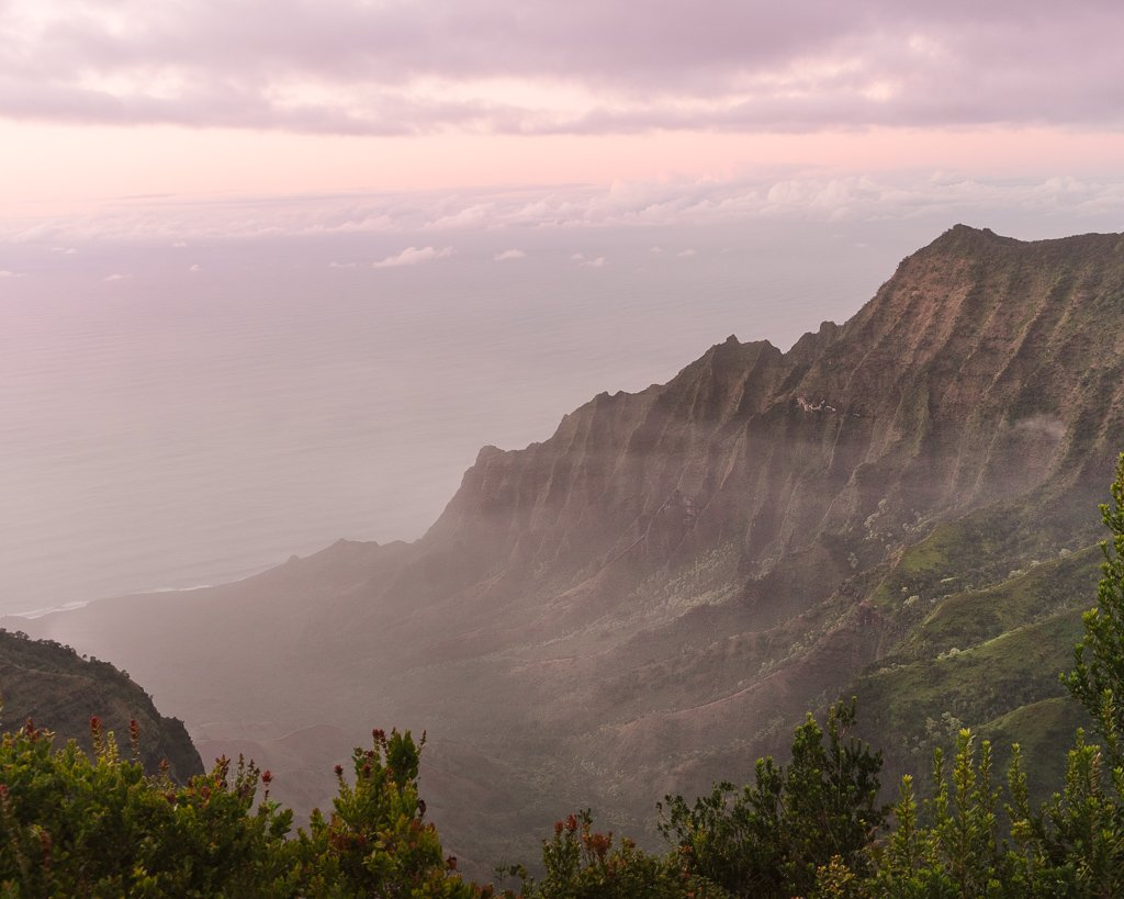 Views of Na Pali coast