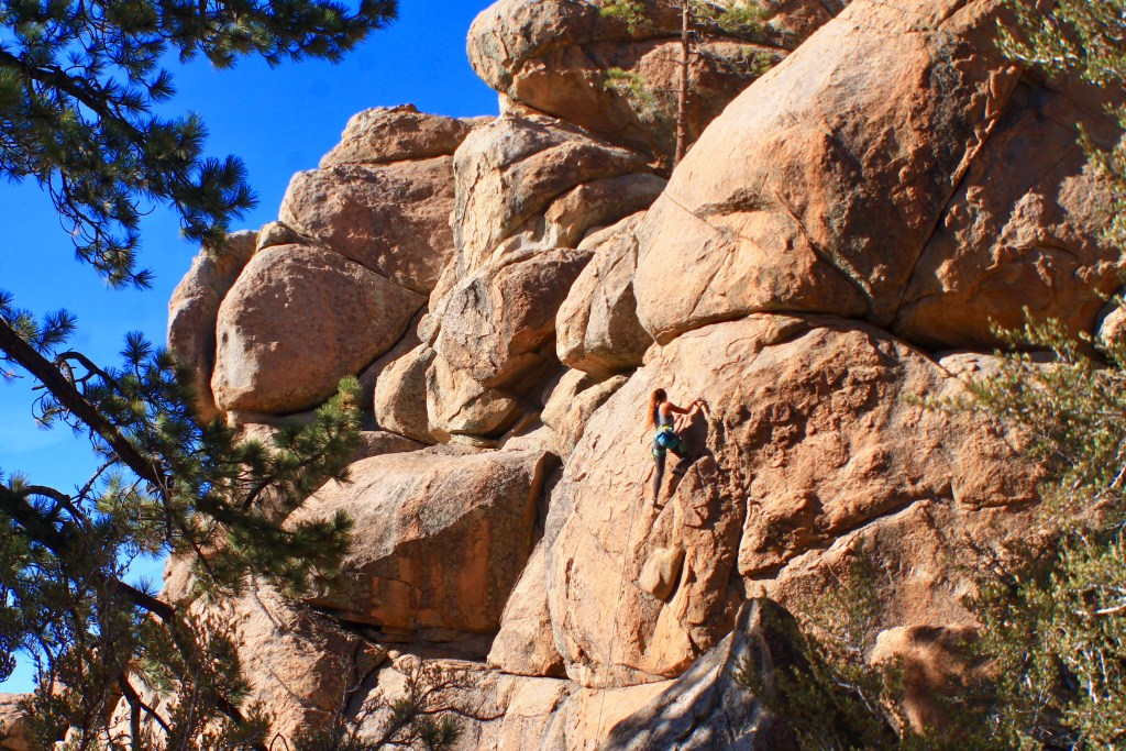 Rock climbing in Holcomb Valley, Big Bear
