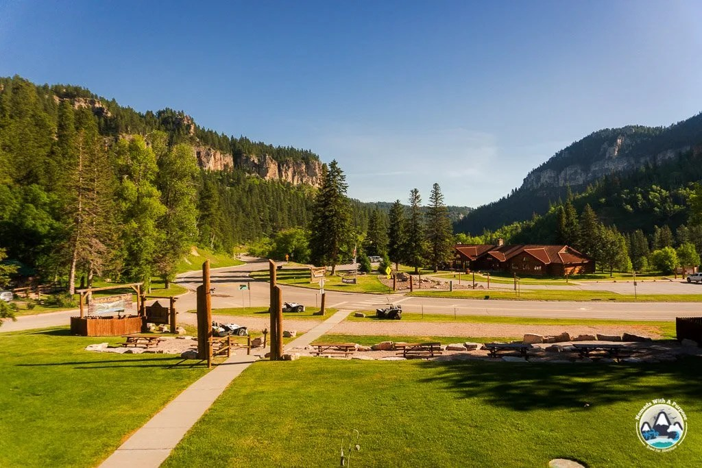 Views from the Spearfish Canyon Lodge