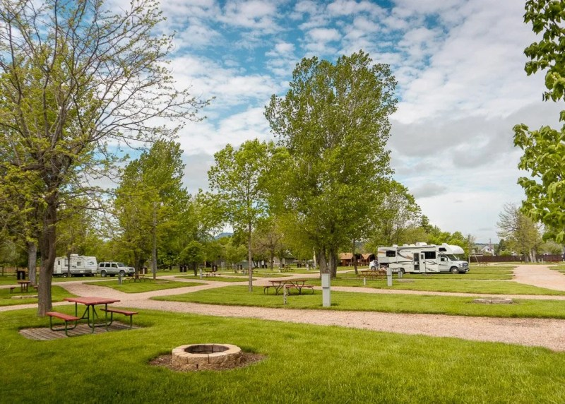Spearfish KOA Campground, Black Hills, South Dakota