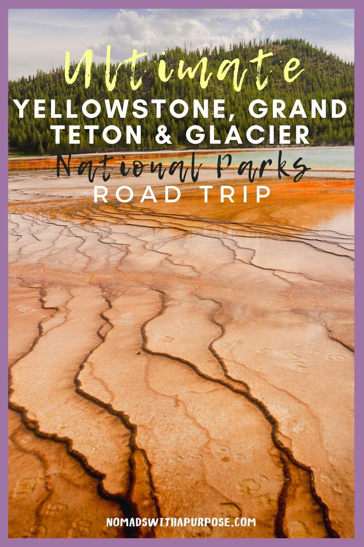 Grand Teton to Yellowstone to Glacier National Parks Road Trip Whitefish Montana Pin