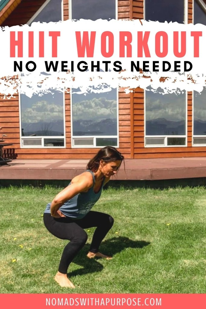 HIIT Workout at Home No Weights Needed Pin
