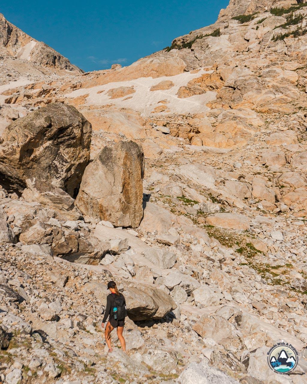 Middle Teton hiking route