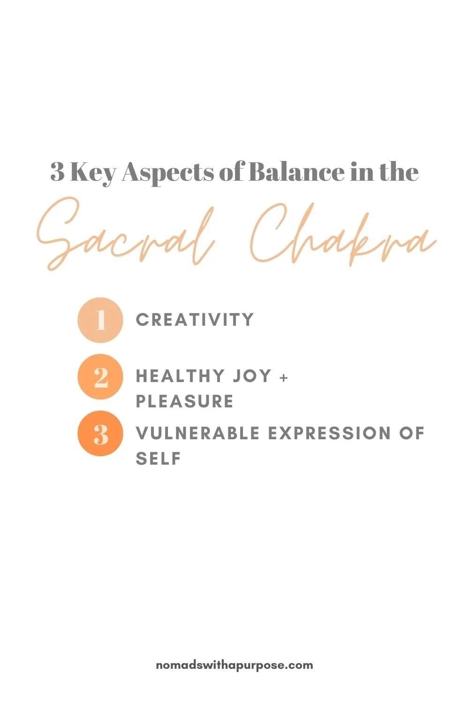 aspects of balanced sacral chakra