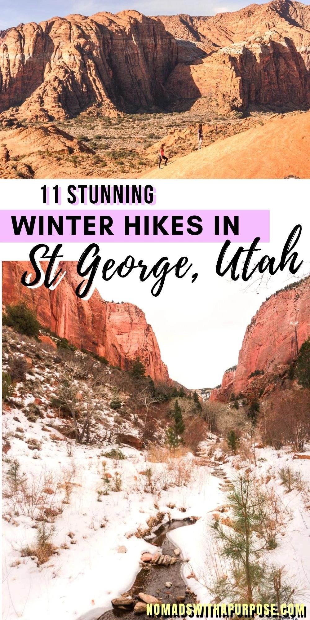 11 Stunning Winter Hikes in St George, Utah