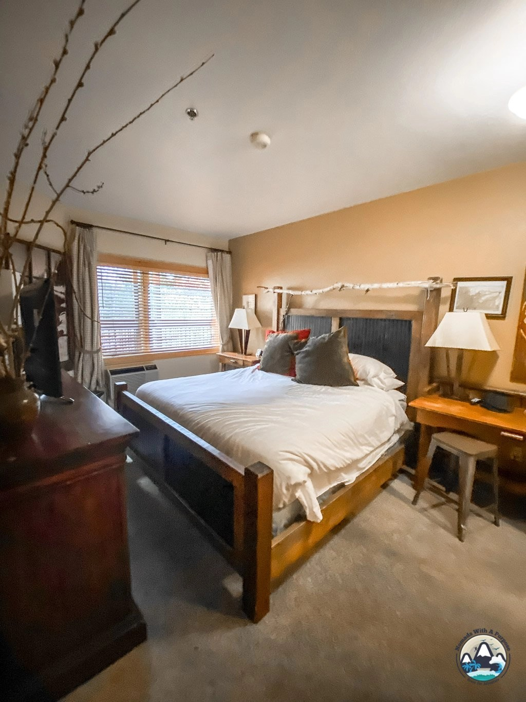 Condo bedroom, The Lodge at Whitefish
