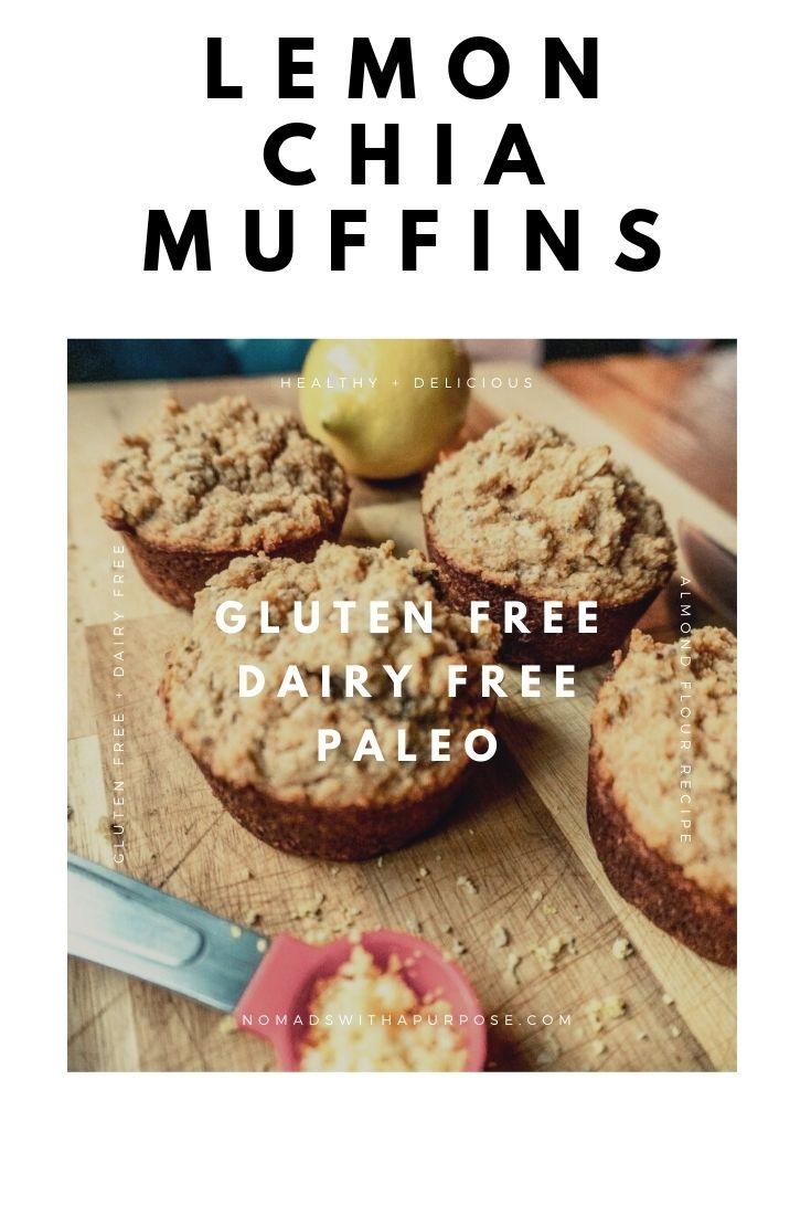 lemon chia muffin recipe pin