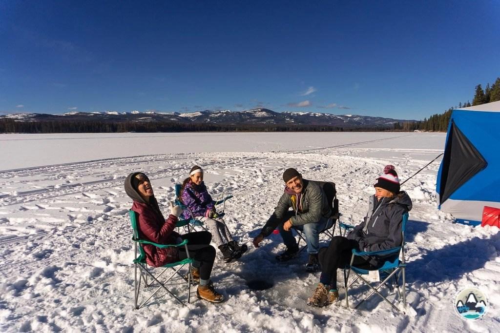Ice Fishing on Seeley Lake